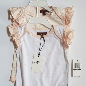 Baby girl outfit set. 7 of All Mankind brand
